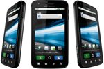 Motorola Atrix 4G viewed from three different angles