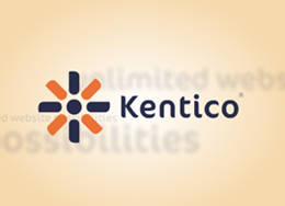 This is a sample video displaying scrolling Kentico logo on orange background. The video is in Windows Media Video (.wmv) format.