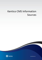Kentico CMS Information Sources